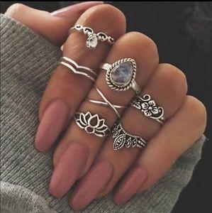 Jewelry - NEW Beautiful Set of Superb Boho Fashion Rings